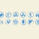 social_media_icons_stamp_icons_set