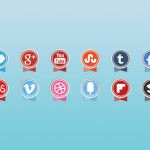 social_media_icons_round_ribbon_icons_set