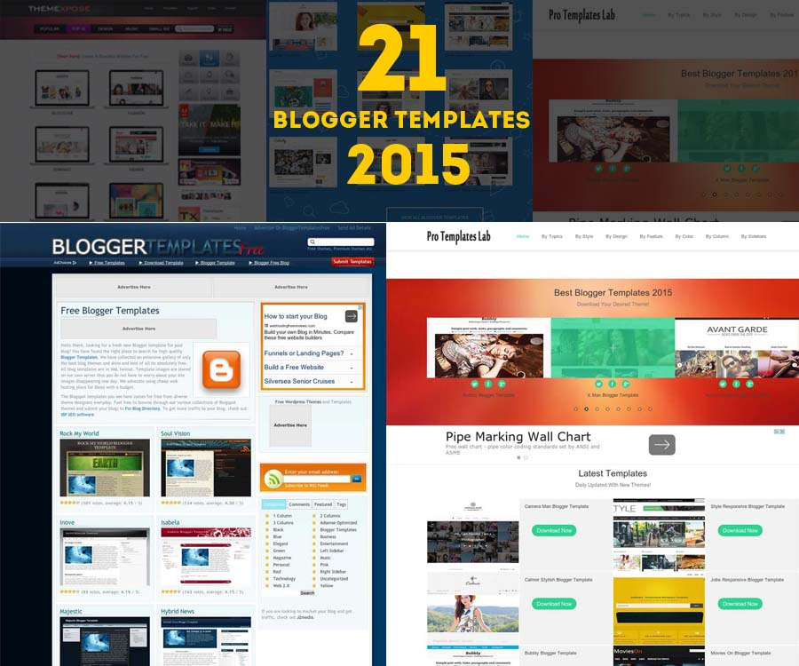 21 free professional blogger templates 2015 creatives wall for Pro photo blog templates