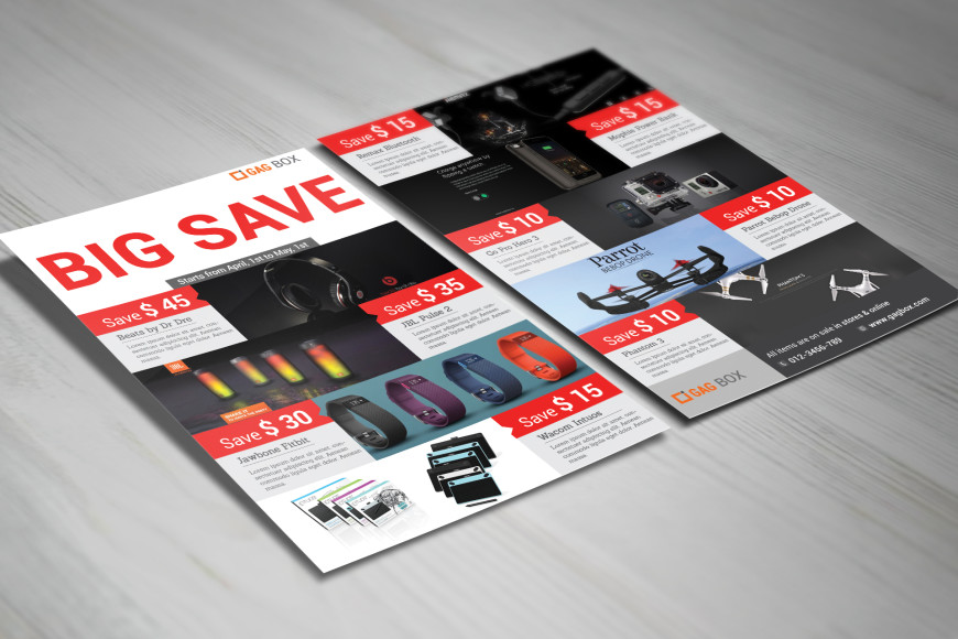 Big Save Product Flyer